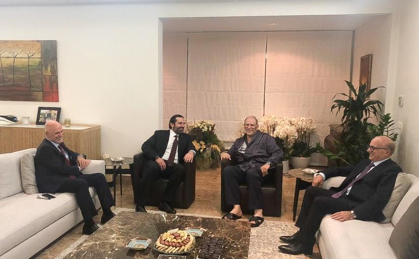 Pr Minister Saad Hariri Visits Minister Jamal Jarrah