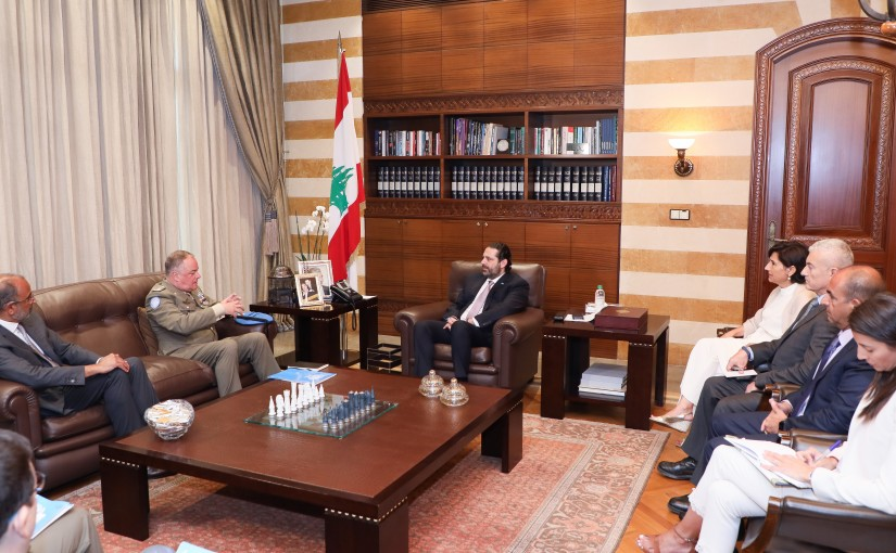 Pr Minister Saad Hariri meets a Delegation from UNIFIL