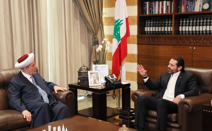 Pr Minister Saad Hariri meets Mufti Maleck Shaare