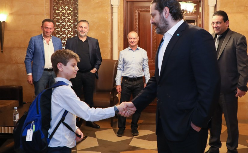 Pr Minister Saad Hariri meets the Kid Zein Sinno