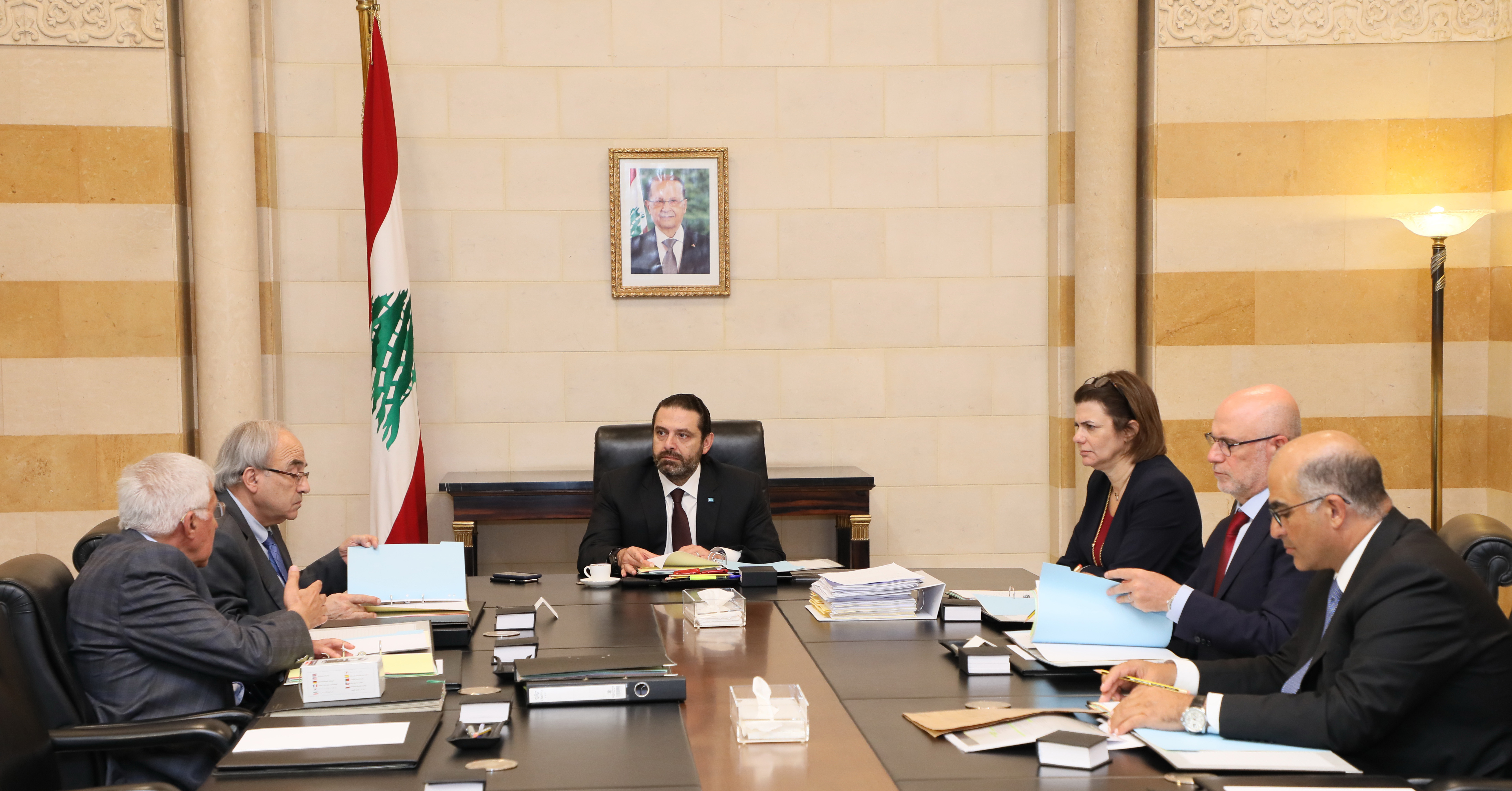 Pr Minister Saad Hariri Heading the National Safety Council Committee