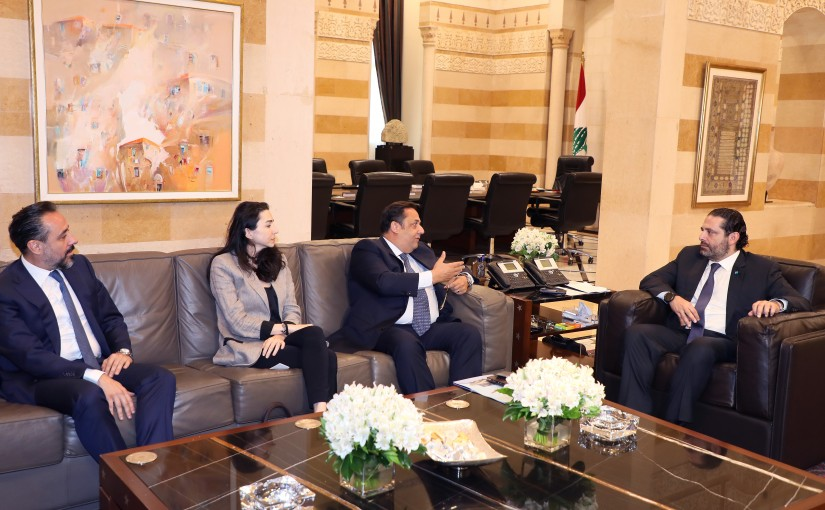 Pr Minister Saad Hariri meets Mr Amer Kayss with a Delegation