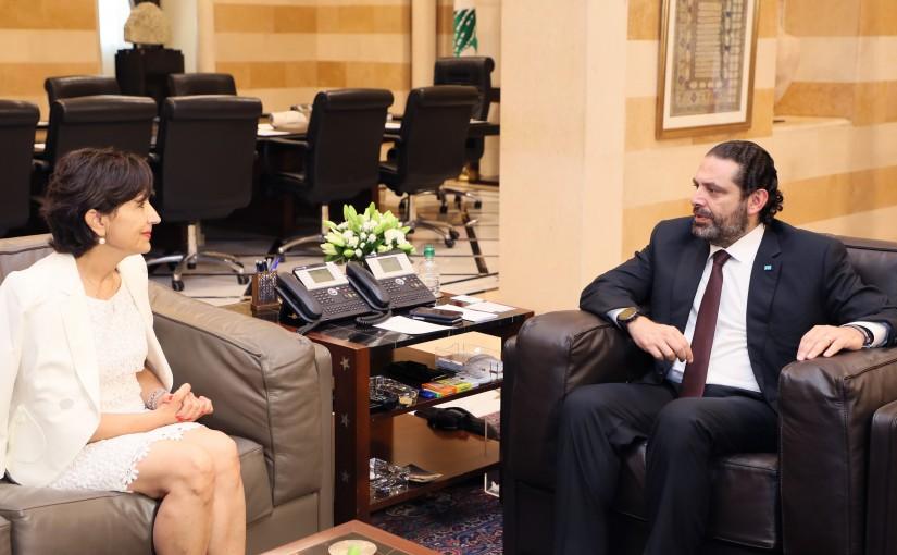 Pr Minister Saad Hariri meets Ambassador Amal Moudalaly