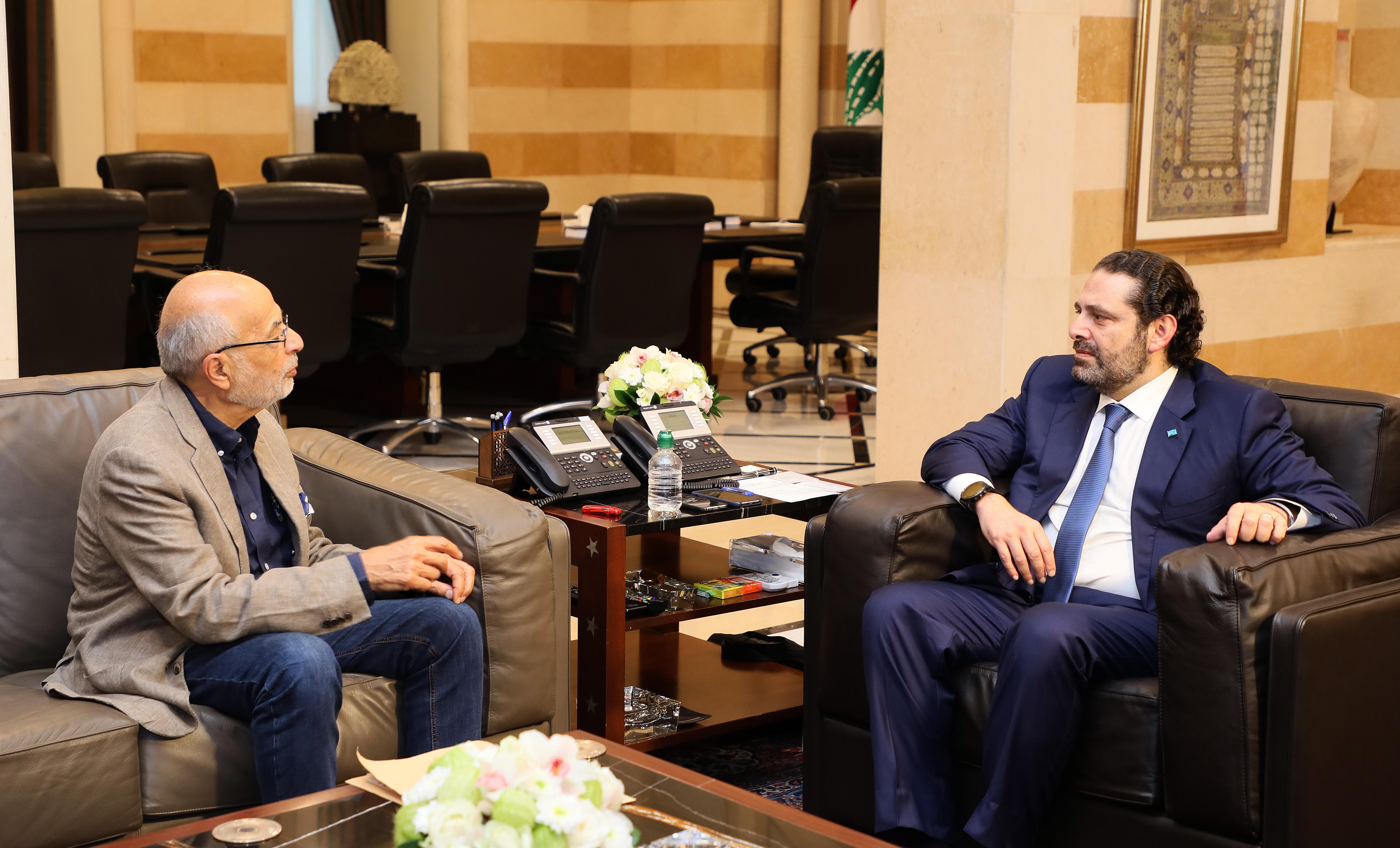 Pr Minister Saad Hariri meets Minister Akram Chehayeb