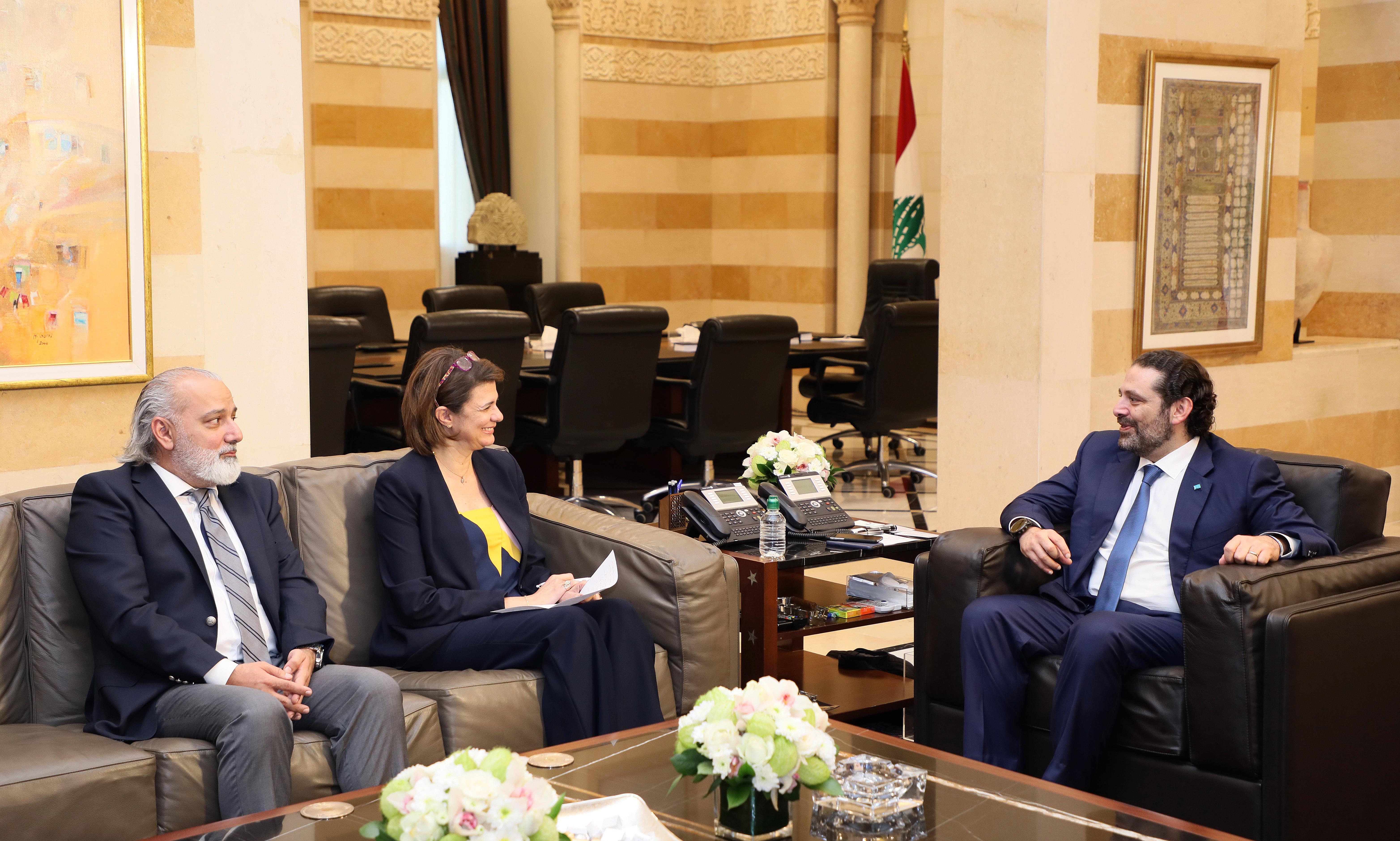 Pr Minister Saad Hariri meets Minister Raya el Hassan