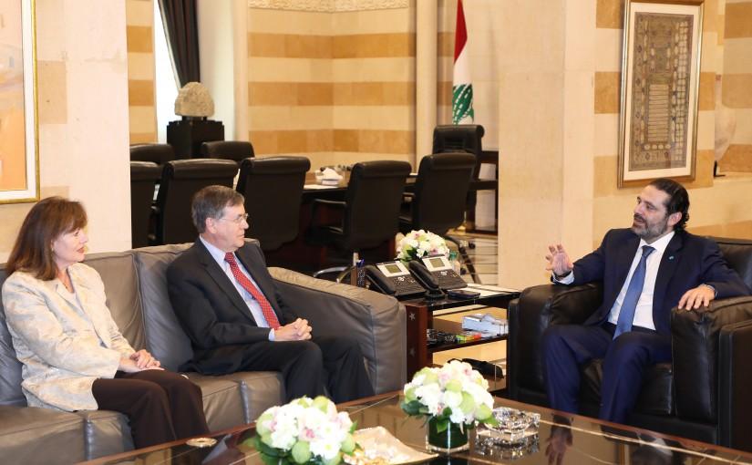 Pr Minister Saad Hariri meets Mr David Saterfield 1