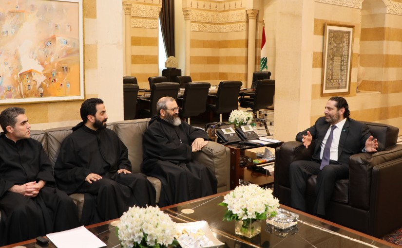 Pr Minister Saad Hariri meets a Delegation from Kaslik University