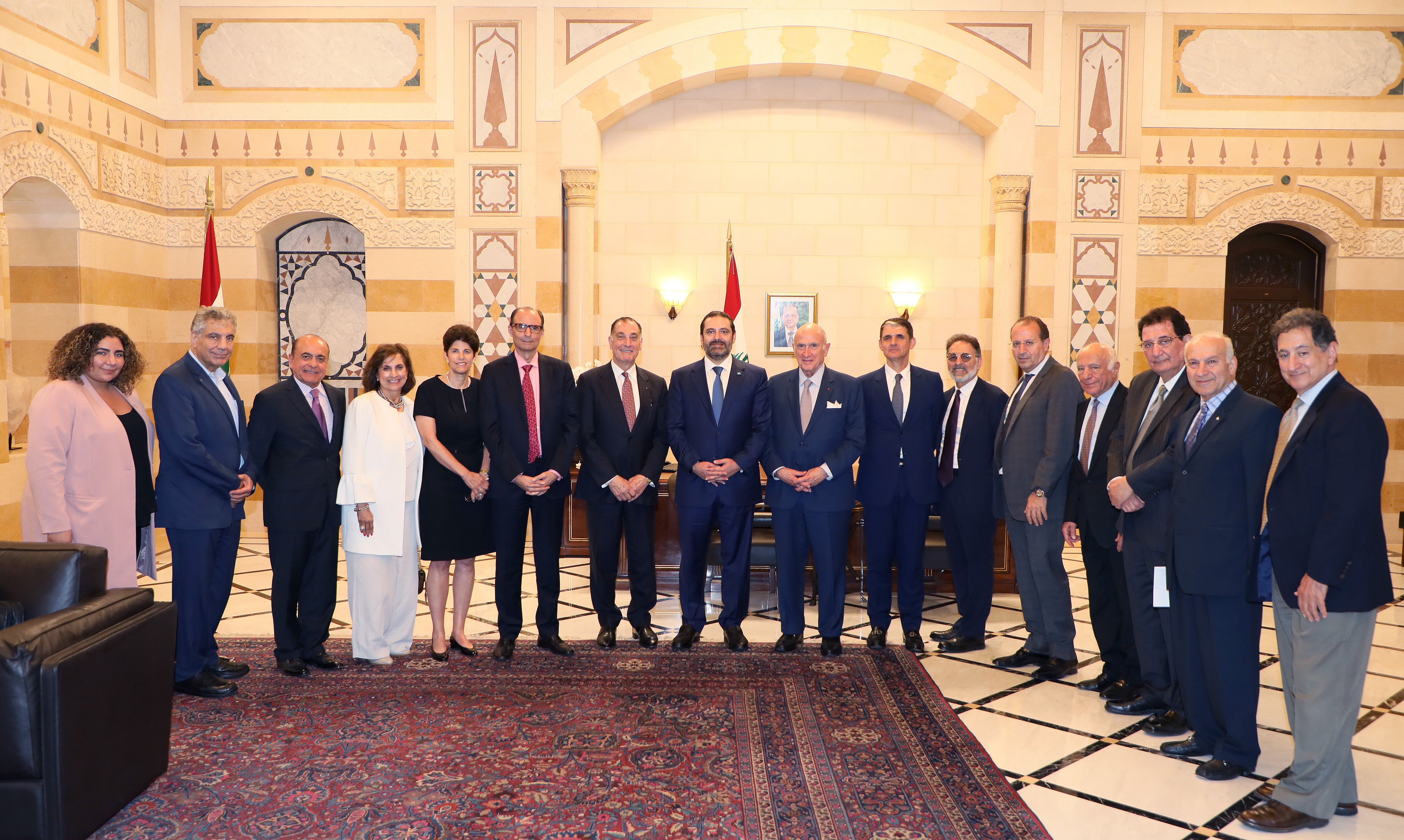 Pr Minister Saad Hariri meets a Delegation from Task Force