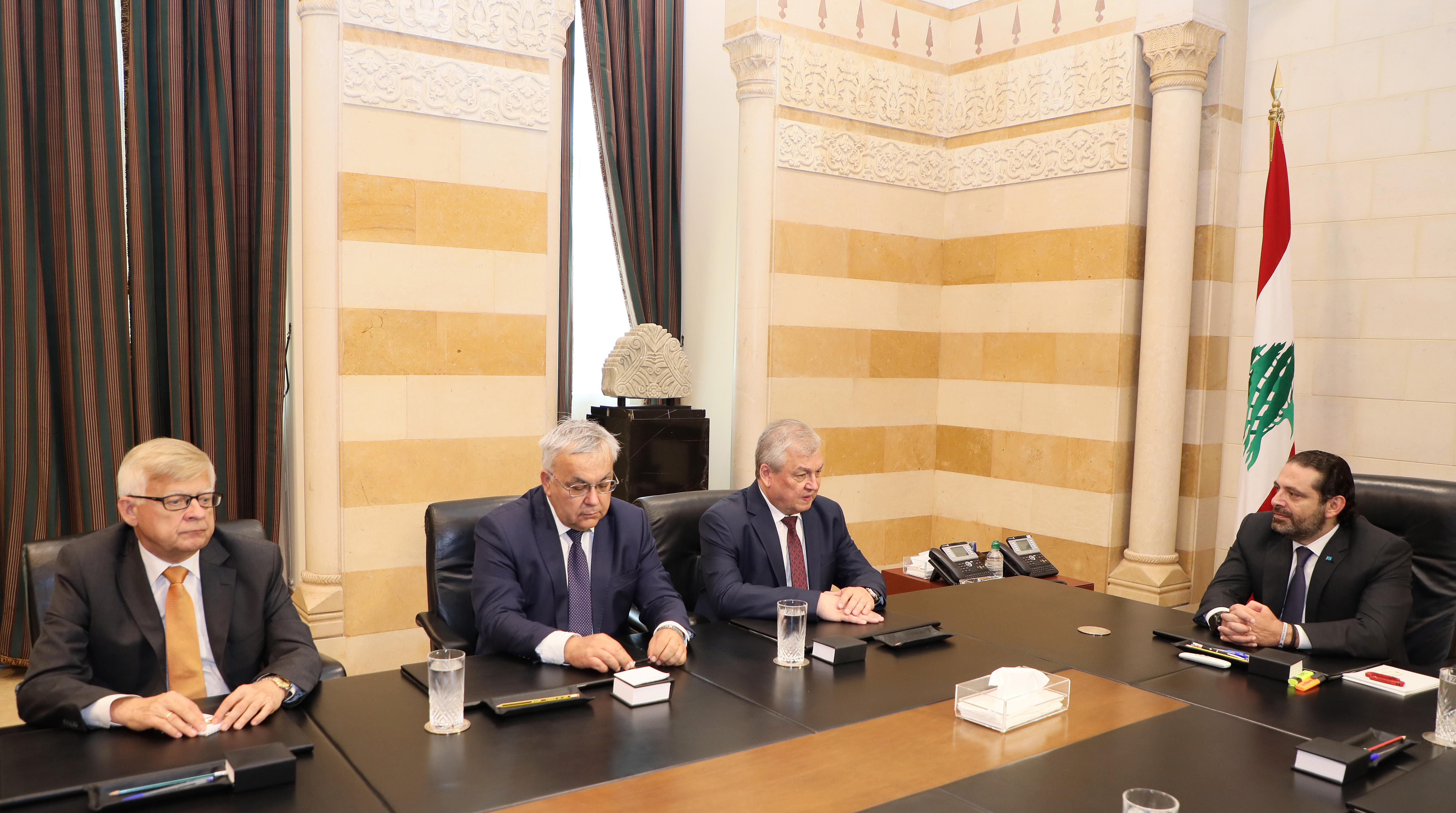 Pr Minister Saad Hariri meets a Russian Delegation 1