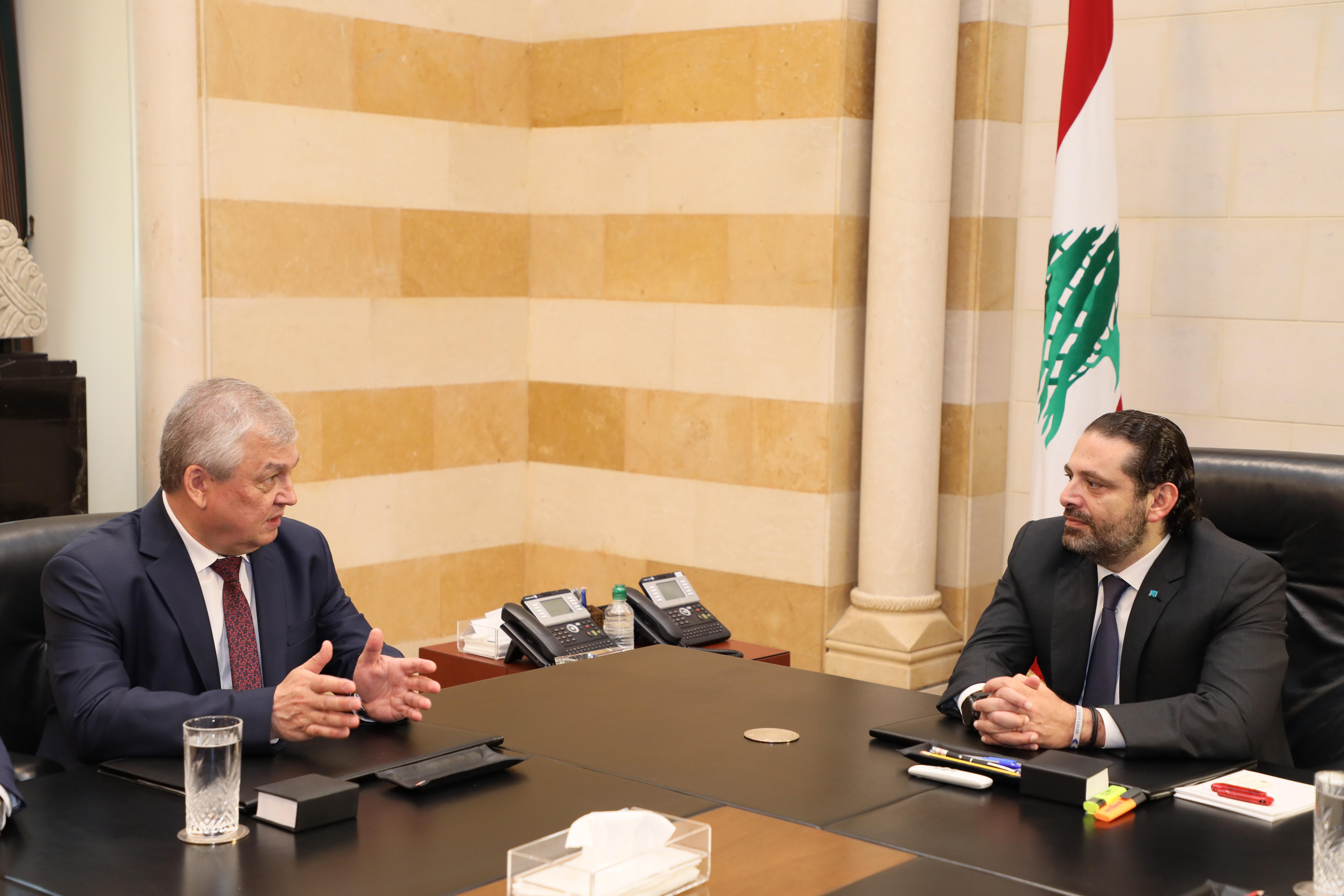 Pr Minister Saad Hariri meets a Russian Delegation 2