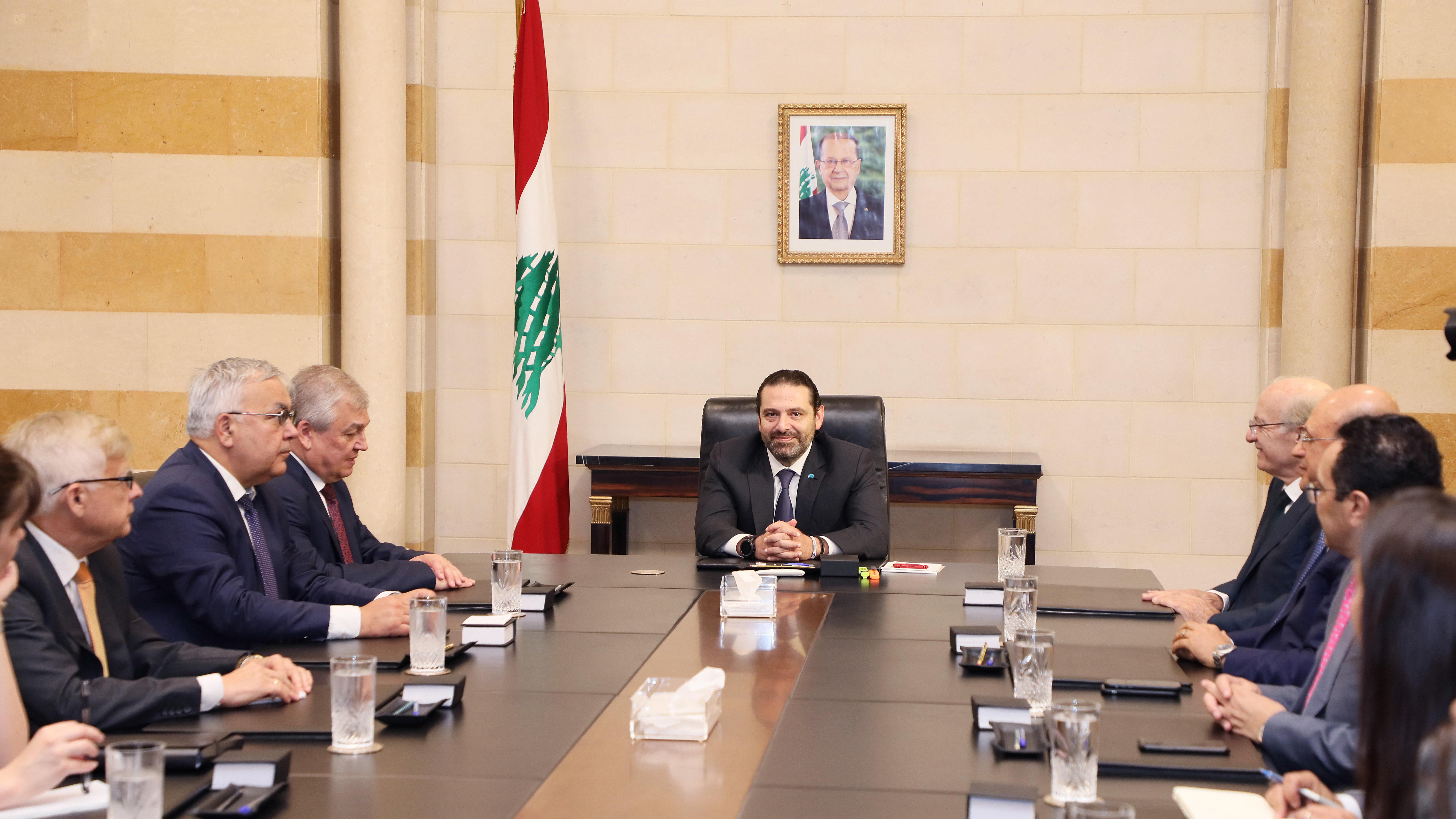 Pr Minister Saad Hariri meets a Russian Delegation 3