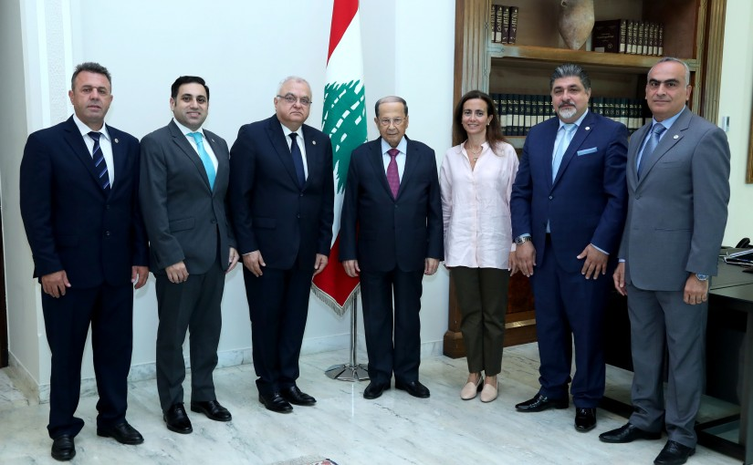 President Michel Aoun Meets President of the Lebanese Ophthalmological Society Dr Salah Ladki with a Delegation