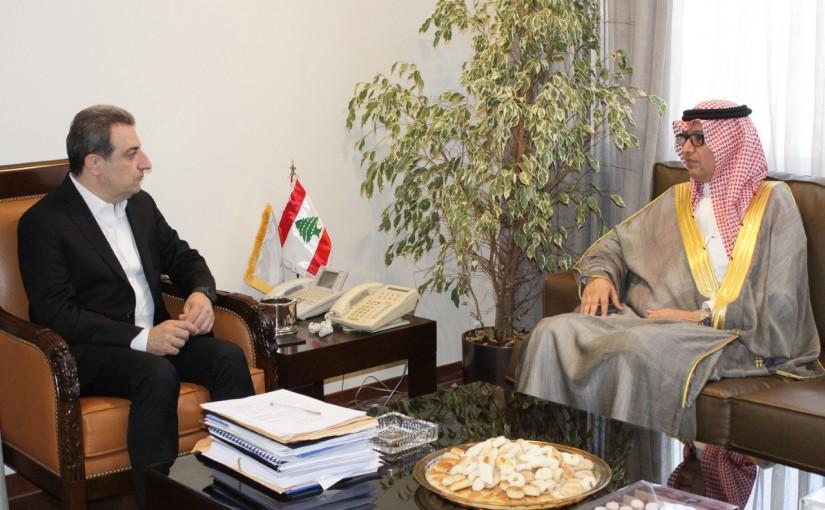 Minister Wael Abou Faour Meets Saudi Ambassador