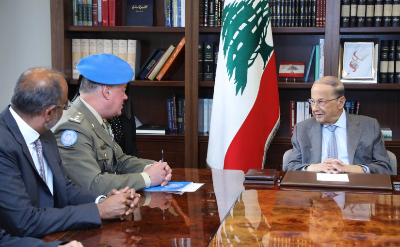 President Michel Aoun Meets Head of UNIFIL Major General Stefano Del Col
