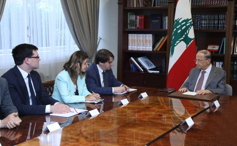 President Michel Aoun Meets a Delegation From The World Bank