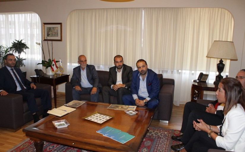 Minister Mouhamad Daoud Daoud meets a Delegation from Baalbak Municipality