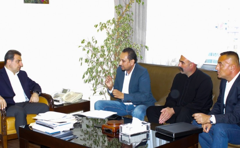 Minister Wael Abou Faour meets a Delegation from Gaz Station Syndicate