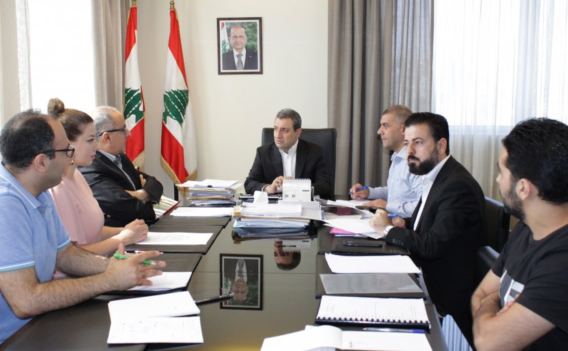 Minister Wael Abour Heading a Meeting for the Negotiating Team at the Ministry of Industry with Lebanon's Trade Partners