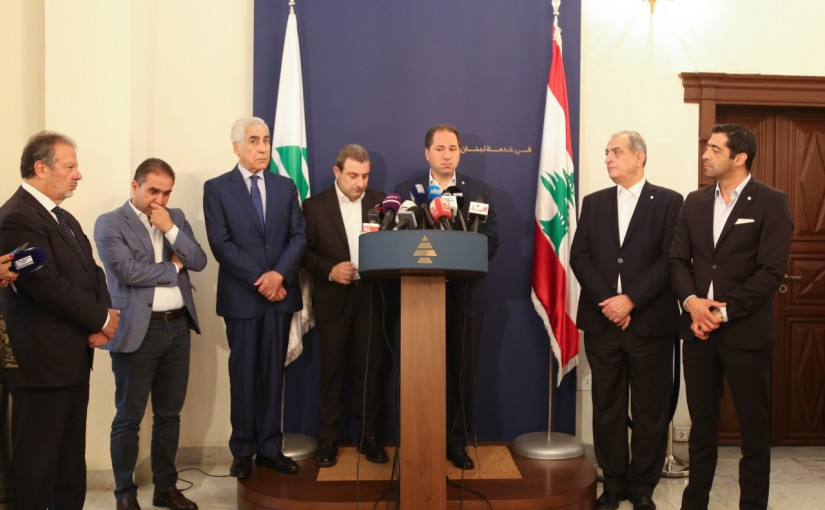 MP Sami Gemayel Meets a Delegation From The Democratic Social Party