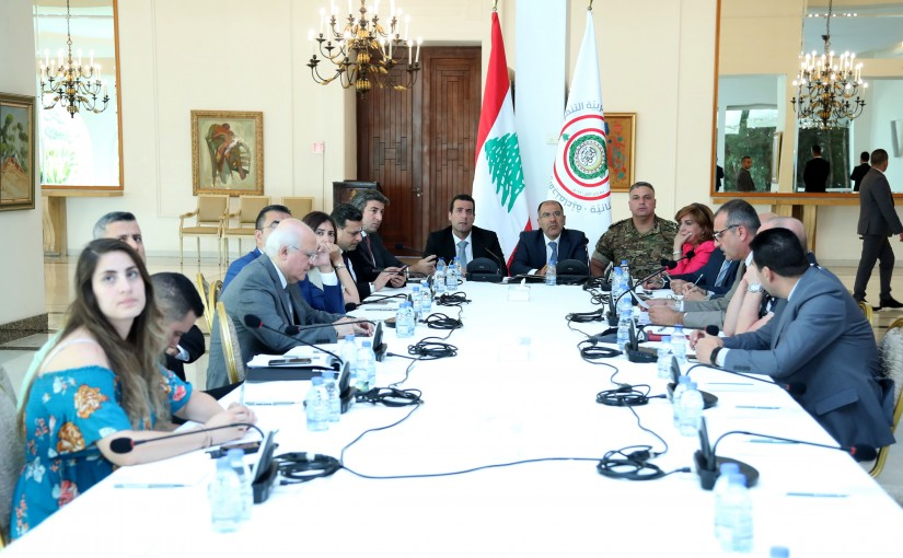 Meeting for the Arab summit committee at the presidential palace