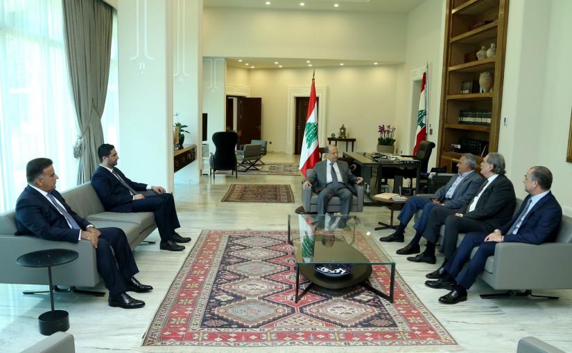 President Michel Aoun Meets MP Talal Erslan Ministers Selim Jreysati,Elias Abou Saab,Saleh El Gharib & Major General Abbas Ibrahim