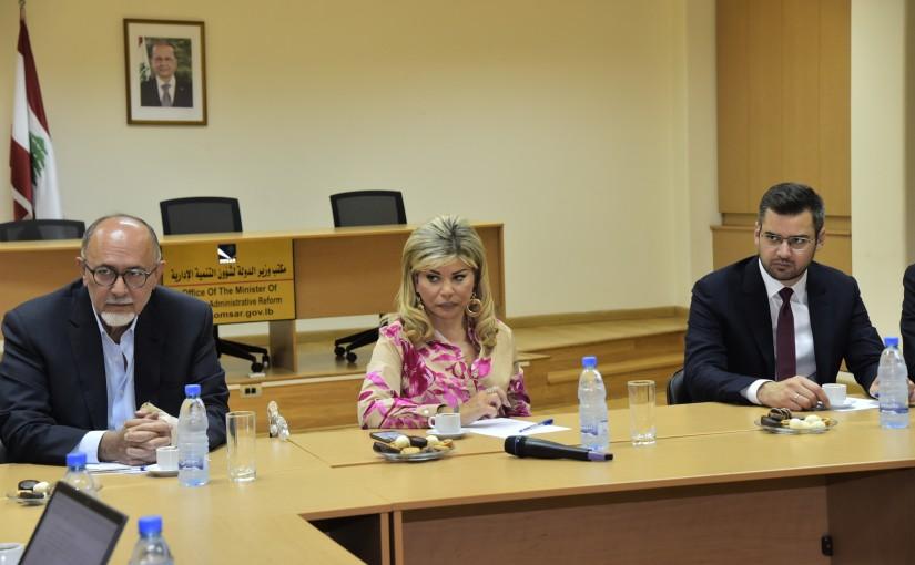 Minister May Chidiac meets MP Tony Franjieh