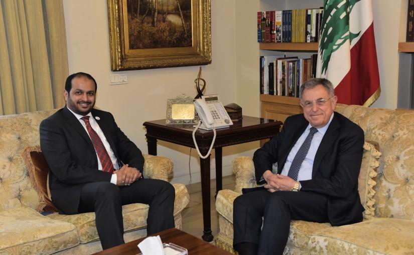 Pr Minister Fouad Siniora meets Emirates Ambassador