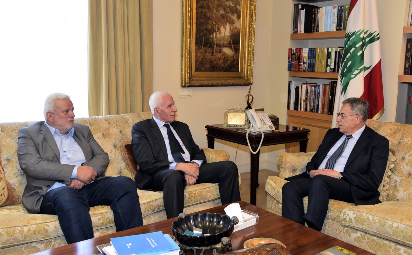 Former Pr Minister Fouad Siniora meets a Palestinian Delegation