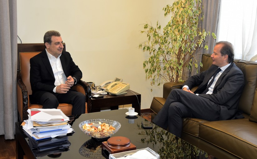 Minister Wael Abou Faour meets Mr Bassini Christiano