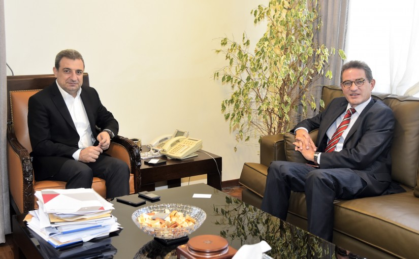 Minister Wael Abou Faour meets German Ambassador
