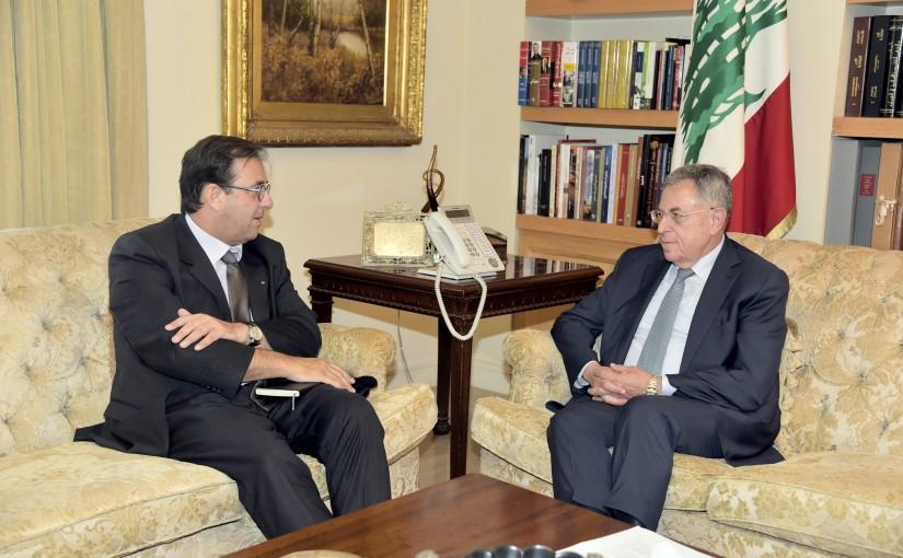 Former Pr Minister Fouad Siniora meets French Ambassador