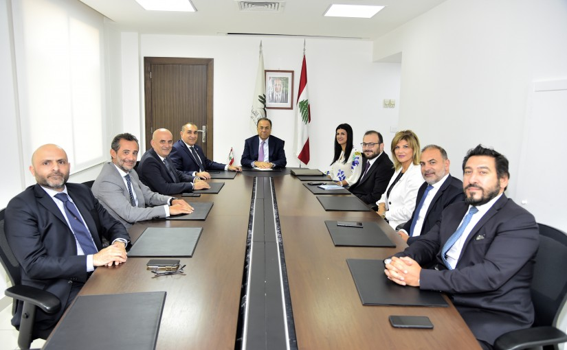 Minister Mansour Bteich meets a Delegation from Union of Insurance Brokers