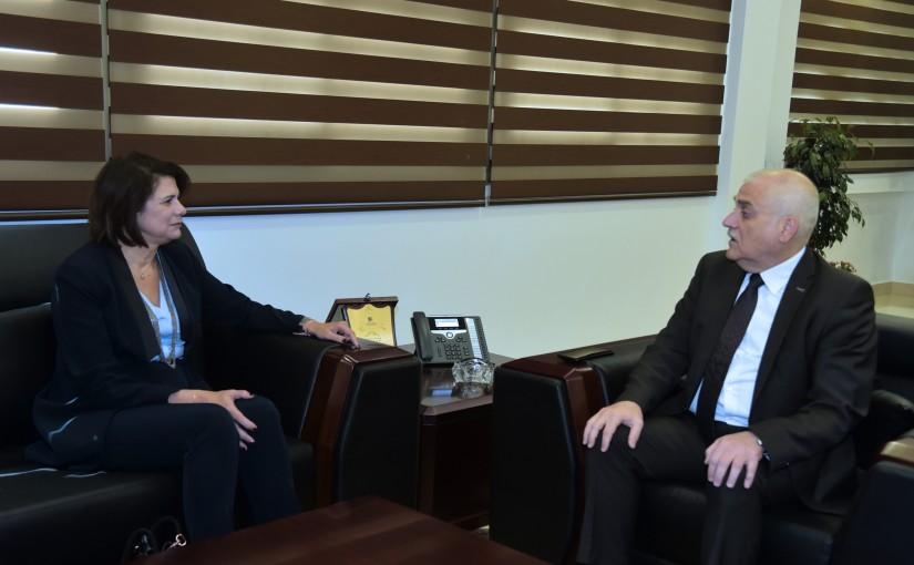 Minister Jamil Jabak meets Minister Raya El Hassan