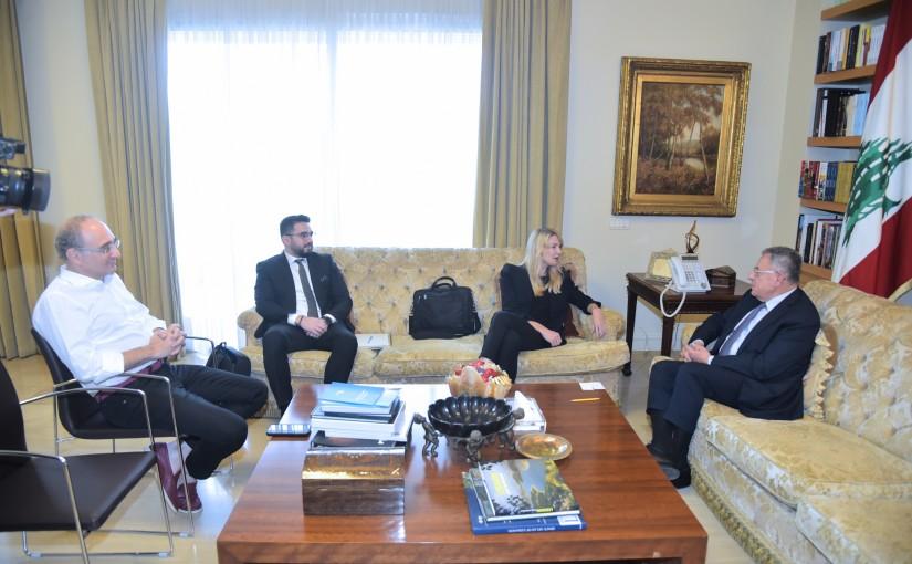 Former Pr Minister Fouad Siniora meets a European Delegation