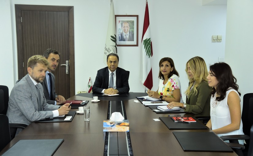 Minister Mansour Bteich meets a Delegation from International Funds