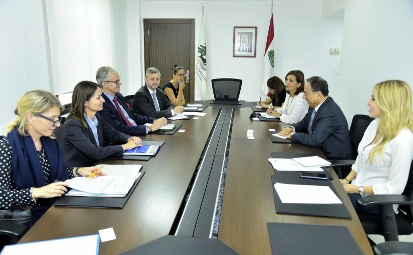 Minister Mansour Bteich meets European Ambassador