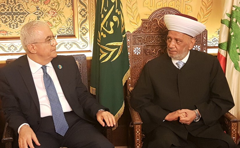 Grand Mufti Abdel Latif Derian Meets Former MP Ammar Houry
