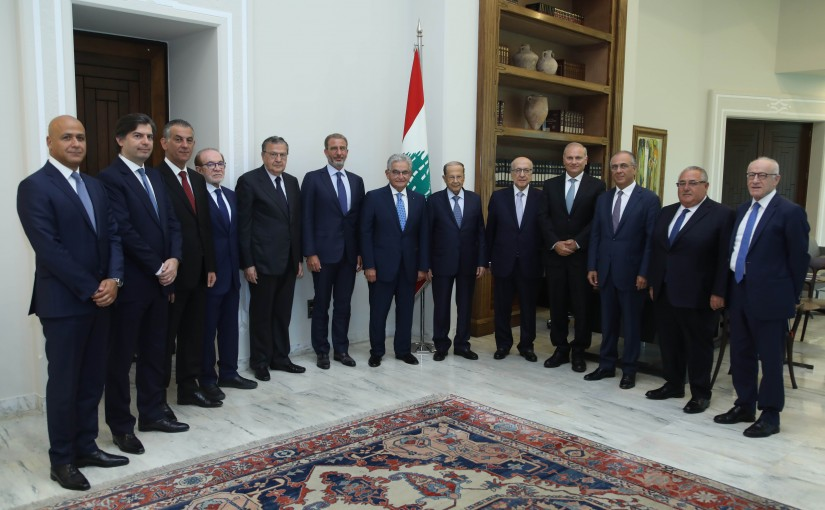 President Michel Aoun Meets a Delegation From Bankers Association