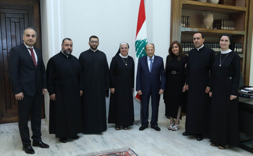 President Michel Aoun Meets Dr Cynthia Gharib with a Delegation