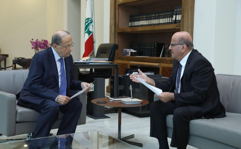 President Michel Aoun Meets  Dr Jarjoura Hardan Special Representative of President Michel Aoun to the International Organization of La Francophonie