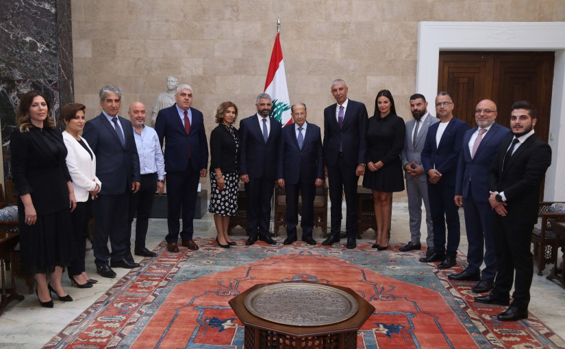 President Michel Aoun Meets a Delegation From El Kaa Festivals Committee