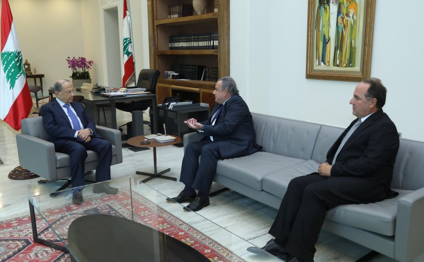 President Michel Aoun Meets Head of Rmeileh Municipality George Khoury
