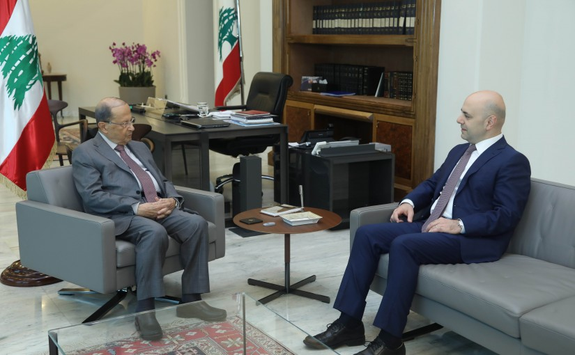 President Michel Aoun Meets Deputy Pr Minister Ghassan Hasbani
