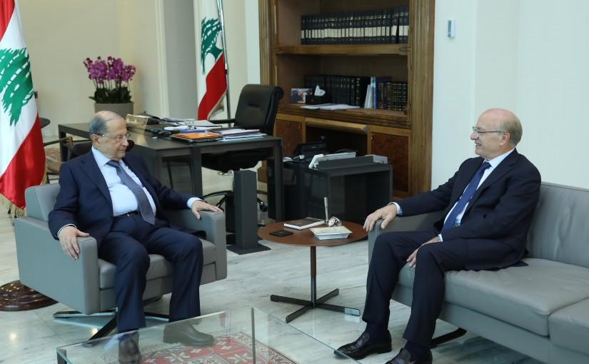 President Michel Aoun Meets Former MP Ghattas Khoury