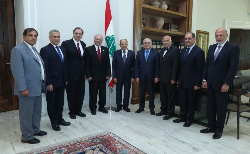 President Michel Aoun Meets a Delegation From Home Association Headed By MP Mario Aoun