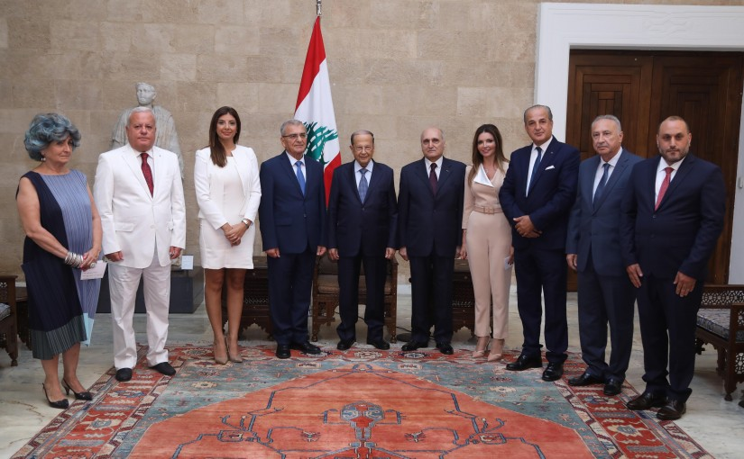 President Michel Aoun Meets a Delegation From The National Commission For Human Rights