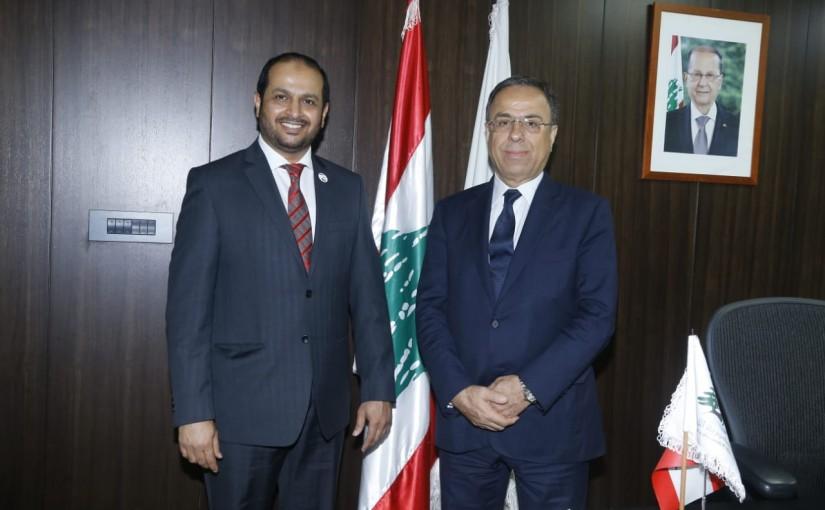 Minister Mansour Bteich meets Emirates Ambassador