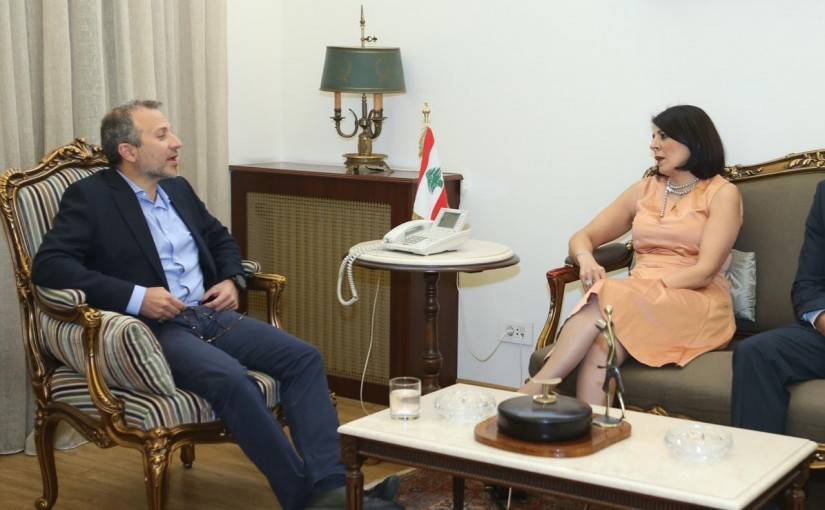 Minister Gebran Bassil meets a Australian Delegation
