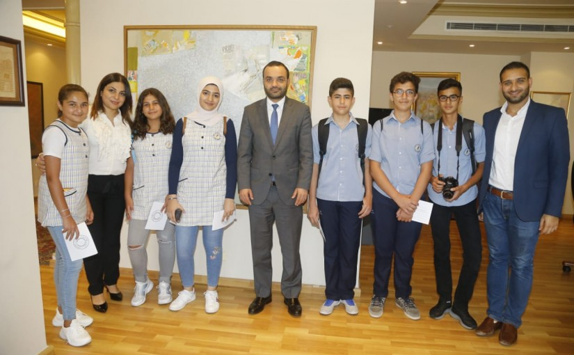 Minister Mouhamad Daoud Daoud meets a Delegation from Lebanese Students