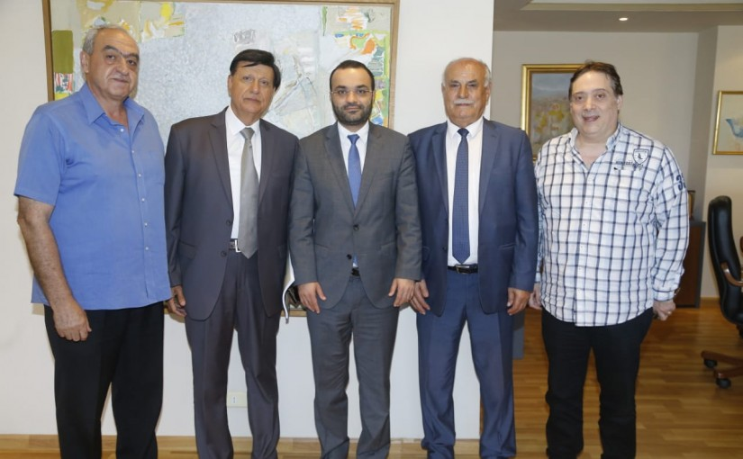 Minister Mouhamad Daoud Daoud meets a Delegation from Wadih el Safi Museum